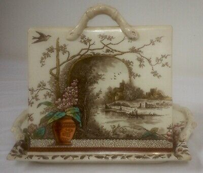 Antique Cheese Dish And Lid In The Rustic Pattern, Burgess & Leigh, Hill Pottery • 50£