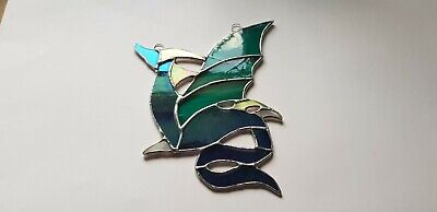 Stained Glass Dragon Suncatcher Or Wall Mount.  • 30£