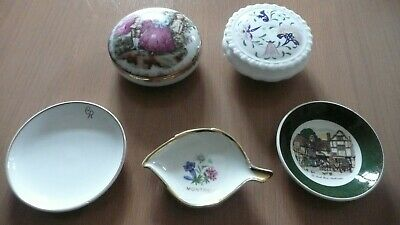 2 X Ceramic Trinkets And 3 Pin Dishes • 3£