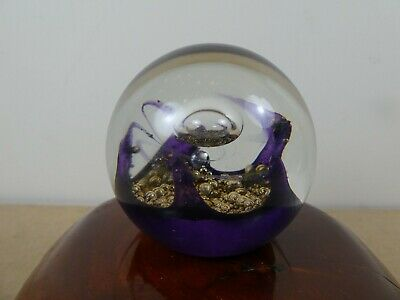 Selkirk Glass~~'electra '~~paperweight~~paper Label • 15.99£