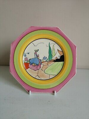 Clarice Cliff Bizarre  Idyll  Octagonal Side Plate • 225£