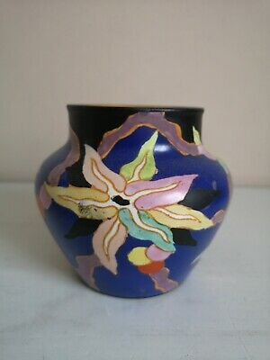 Art Deco Carlton Ware Handcraft  Stellate Or Wild Cherry   Vase • 45£