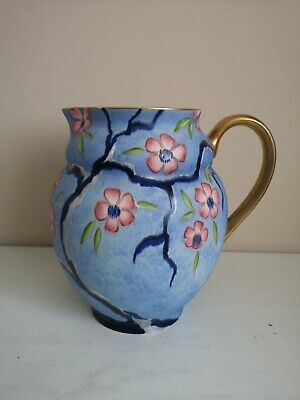 Art Deco Carlton Ware Handcraft  Apple Blossom  Jug • 145£