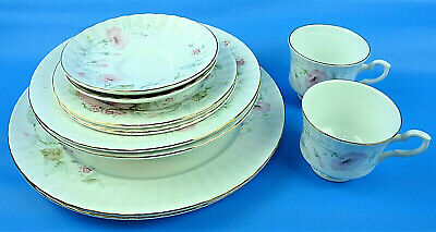 Royal Stafford Bone China 2 Person Dinner Service - Floral Pattern - 10 Pieces. • 19.99£