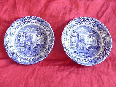 Spode Blue Italian 6.25  Or 16cm Cereal/ Small Bowls, Set Of 2 Brand New  • 12£