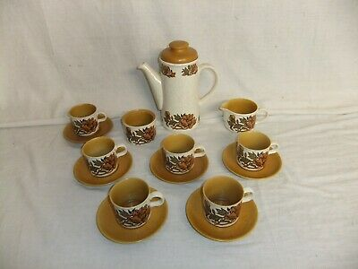 C4 Pottery Royal Worcester Palissy - Coffee Service For Six, Retro Vintage 8C3B • 25£