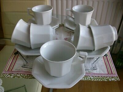 Johnson Brothers Heritage White Cups And Saucers X 7 • 9£