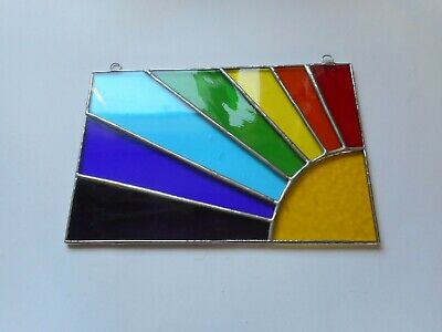 Stained Glass Sun Rainbow Spectrum Suncatcher Or Wall Picture • 35£
