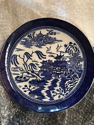 Blue Willow Pattern Round Plate • 2£