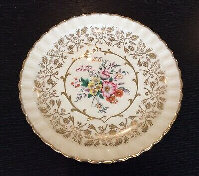 Vintage Wood & Sons Floral And Gold Dinner Plate • 3.95£