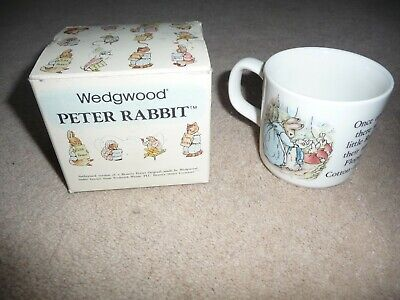 Vintage Wedgwood Peter Rabbit Cup ~ Beatrix Potter - BOXED - PRISTINE • 3.50£