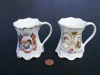 St George- Fine Bone China Mugs X2 Queen Mary 1911 & King Edward • 11.99£