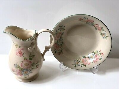 Vintage St.Michael M&S China Pitcher & Bowl. Edwardian Lady Design • 5.99£