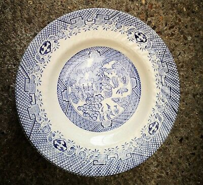 Set Of Six Barratts Blue And White Willow Pattern Vintage Tea Plates 17.5cms • 3.50£