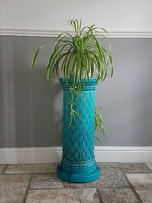 Antique Burmantofts Jardiniere Plant Stand Pottery Turquoise Glaze Can Deliver • 249.99£