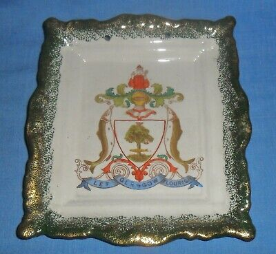 Victorian Staffordshire Wall Plate / Plaque 'let Glasgow Flourish' City Motto. • 10£