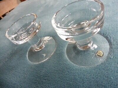 Pair Of Dartington Glass Lead Crystal Candlesticks Designed By Frank Thrower  • 8£