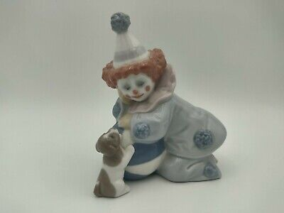 Lladro Porcelain Figurine  Pierrot With Puppy And Ball   No.5278  • 21.99£