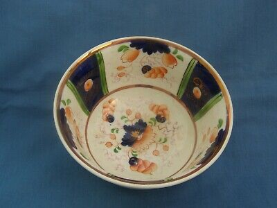 Antique Gaudy Welsh Sugar Or Slop/dregs Bowl Unusual Pattern Lovely Condition  • 11.99£