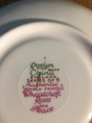 Vintage Roslyn China In The Wheatcroft Rose Design In Good Condition  • 1.45£