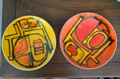Vintage Poole Pottery Shallow Dishes/plates • 15£