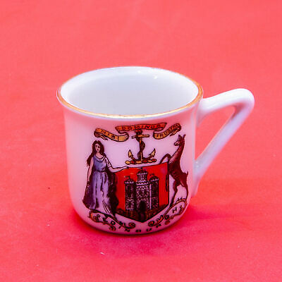 Czechoslavakia Crested China Minature Mug - Beaker With Southsea Crest • 5.99£