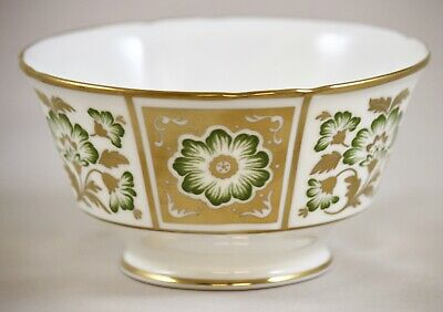 Royal Crown Derby Green Panel A1237 Large 13cm 5  Open Sugar Bowl 1st Excellent! • 30£