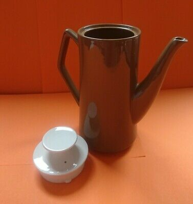 Beswick Coffee Pot 1958 Brown/Taupe & Cream - Very Good Condition • 22.50£