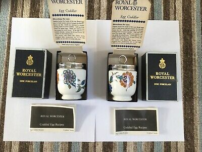 Two Royal Worchester Egg Coddlers Palmyra Styling • 15£