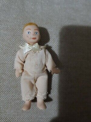 Miniature Porcelain Boy Child Doll Very Old • 0.99£