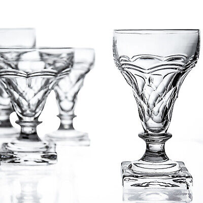Antique Suite Of Crystal By John Walsh - 20 Glasses - Heavy Square Base Signed • 74.99£