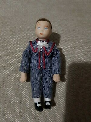 Miniature Porcelain Boy Child Doll. Very Old • 0.99£