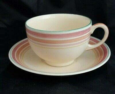 Vintage Gray's Pottery 'sunbuff '  Cup & Saucer Fantastic Colours In Vgc  • 5£