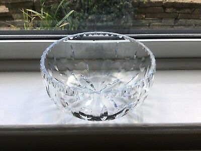 Cut Glass Lead Crystal Fruit Bowl / Centre Bowl • 2.99£