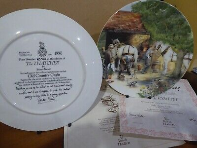 Full Set Of 12 Royal Doulton Old Country Crafts Plates With COA • 16£