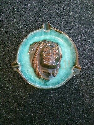 McMaster Canada Art Pottery Dish Ashtray. Native American First Nation Chief • 19.95£