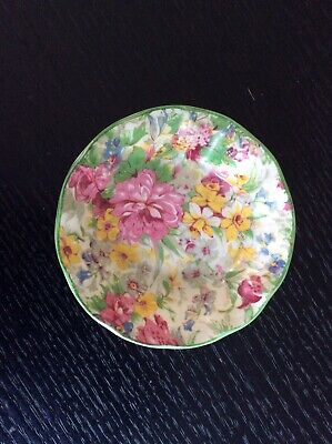 Midwinter Burslem Porcelon Floral Chintz Trinket Dish • 3£