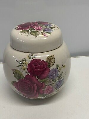 Melba China Rose Design Lidded Ginger Jar See Photo For Condition • 5£