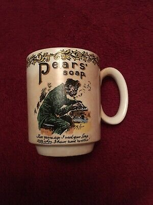 Vintage Lord Nelson Pottery Handcrafted Mug Advertising Pears Soap No 80 • 2.50£