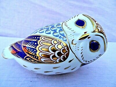 ROYAL CROWN DERBY OWL PAPERWEIGHT LVII 1st QUALITY PERFECT CONDITION NO STOPPER • 29.99£