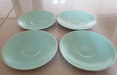 Poole Pottery Twintone Ice Green 4 Replacement Saucers Only 15cm C57 • 18£