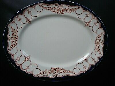 Myott Son & Co, England - 'Rosemary' Oval Serving Plate/Platter; VGC - Rare • 29.50£