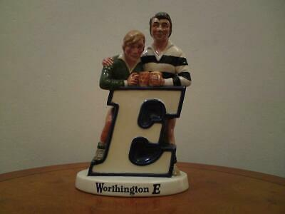 Rare Unmarked Beswick Worthington E Bitter Advertising Rugby Players Figure • 95£
