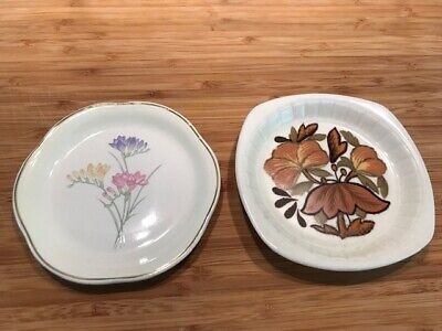Royal Worcester Spode Palissy: 2 X Pin/Trinket Dishes • 6.99£