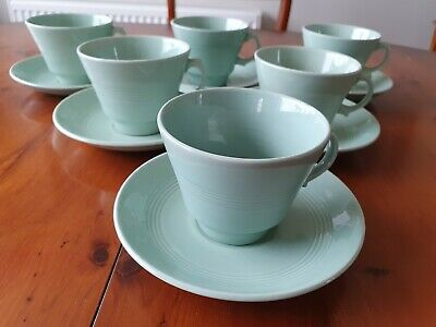 3  Vintage Woods Ware Beryl Tea Cup And Matching Saucer • 9.50£