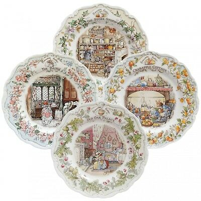 4 Brambly Hedge Homes And Workplaces Plates - Royal Doulton • 130£
