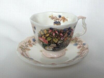Miniature Brambly Hedge Autumn Cup And Saucer - 1st Quality  • 20£