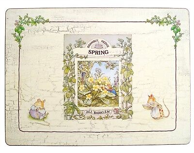 Set Of 4 Brambly Hedge Seasons Placemats By Pimpernel - BOXED • 120£