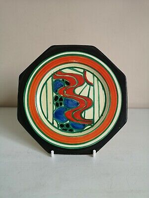 Clarice Cliff Fantasque  Sunrise (Red)  Octagonal Side Plate • 225£