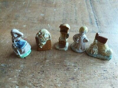 5 X WADE Nursery Rhyme Figures/Characters - EXCELLENT CONDITION • 4.25£